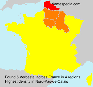 Surname Verbestel in France