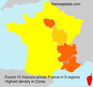 Surname Viacava in France