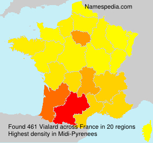 Surname Vialard in France