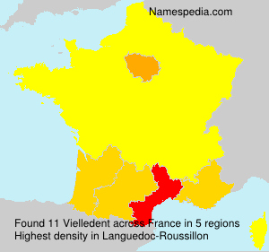 Surname Vielledent in France