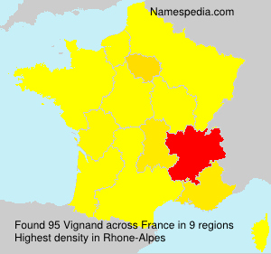 Surname Vignand in France
