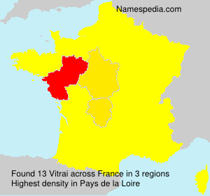 Surname Vitrai in France