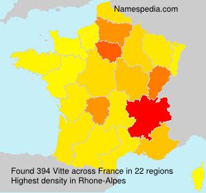 Familiennamen Vitte - France