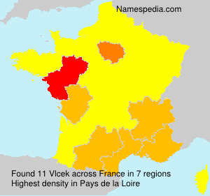 Surname Vlcek in France