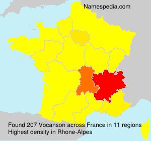 Familiennamen Vocanson - France