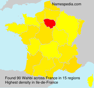 Surname Wahbi in France