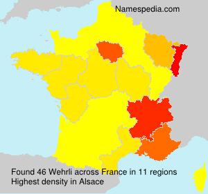 Surname Wehrli in France