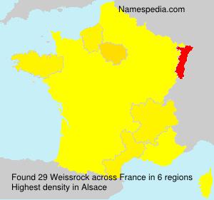 Familiennamen Weissrock - France