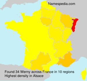 Familiennamen Werny - France