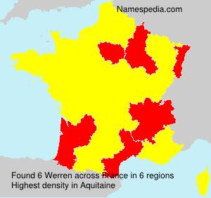 Familiennamen Werren - France