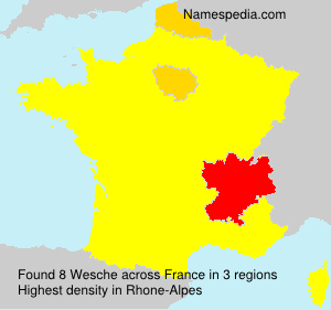 Surname Wesche in France