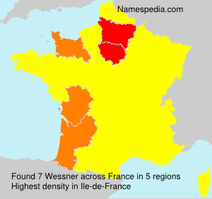 Surname Wessner in France