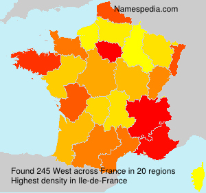 Surname West in France