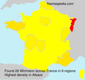 Surname Wirrmann in France