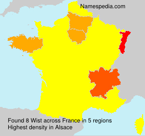 Surname Wist in France