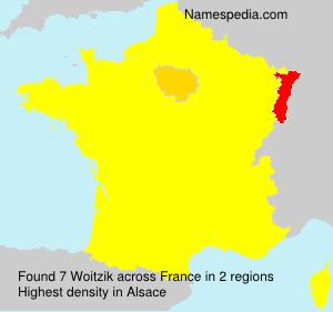 Familiennamen Woitzik - France