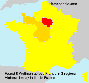 Surname Wolfman in France