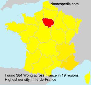 Familiennamen Wong - France