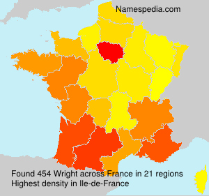 Surname Wright in France