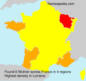 Surname Wuhrer in France