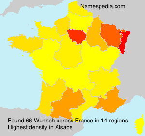 Surname Wunsch in France
