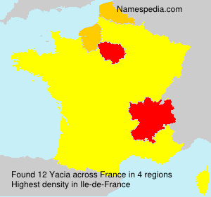 Surname Yacia in France