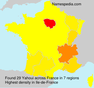 Surname Yahoui in France