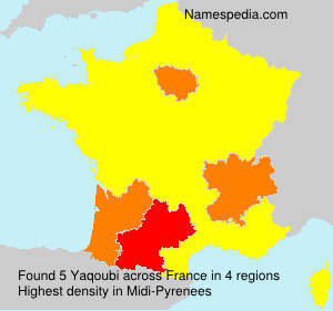 Surname Yaqoubi in France