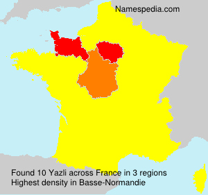 Surname Yazli in France
