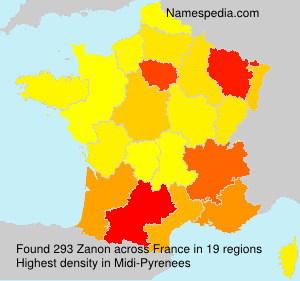Surname Zanon in France