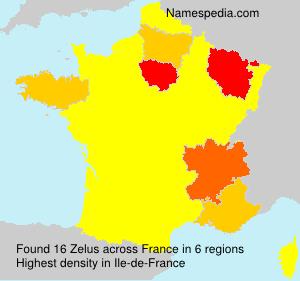 Surname Zelus in France