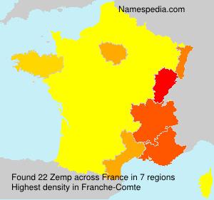 Surname Zemp in France