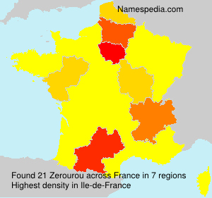 Surname Zerourou in France