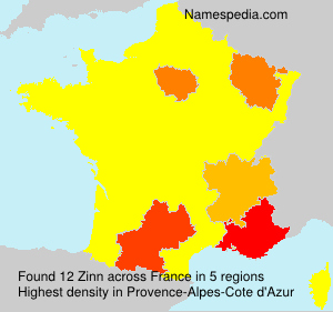 Surname Zinn in France