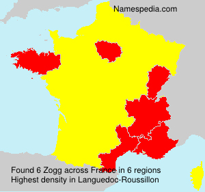 Surname Zogg in France