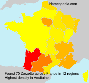 Surname Zorzetto in France