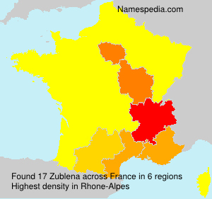 Surname Zublena in France