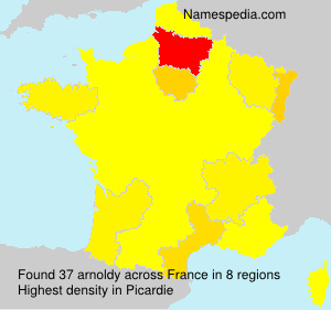 Surname arnoldy in France