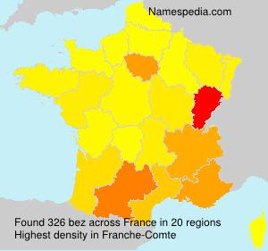 Familiennamen bez - France