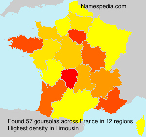 Surname goursolas in France