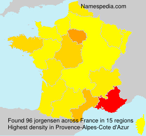 Surname jorgensen in France