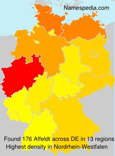Familiennamen Affeldt - Germany