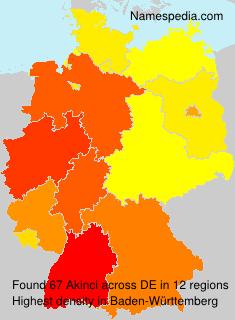 Familiennamen Akinci - Germany