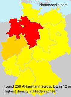 Familiennamen Akkermann - Germany