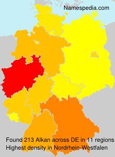Familiennamen Alkan - Germany