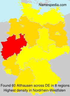 Surname Althausen in Germany
