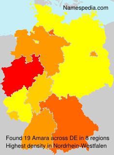 Surname Amara in Germany