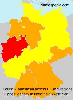 Surname Anastasia in Germany