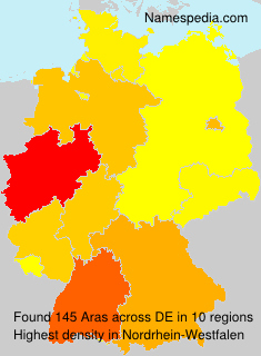 Surname Aras in Germany