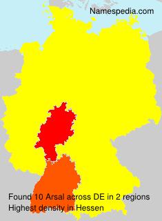 Familiennamen Arsal - Germany